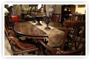 From Renowned Italian Manufacturer Gergio Exotic Rosewood And Ebony Suites Accents Also On Display Crotch Mahogany Walnut Dining